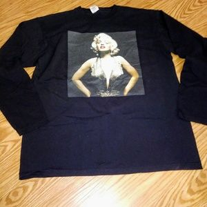 Double Sided  Mens L Marilyn Monroe Graphic Tee